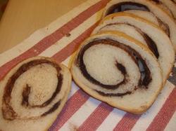 チョコ&シナモンの渦巻きパン